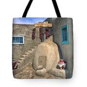 Home On Taos Pueblo Tote Bag by Sandra Bronstein