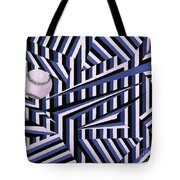 Home Run In Blue Tote Bag by Anthony Morris