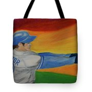Home Run Swing Baseball Batter Tote Bag by First Star Art