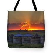 Home Town Sunset Panorama Tote Bag