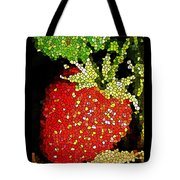 Homegrown Strawberry Mosaic Tote Bag