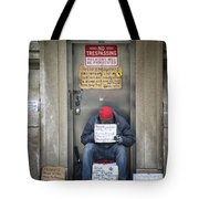 Homeless In The Usa Tote Bag