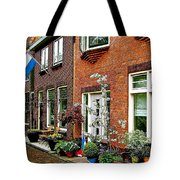 Homes Along The Canal In Enkhuizen-netherlands Tote Bag