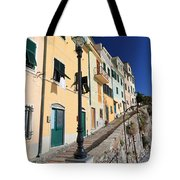 Homes In Bogliasco Tote Bag