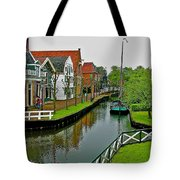Homes Near The Dike In Enkhuizen-netherlands Tote Bag