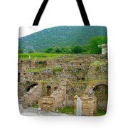 Homes Of The Rich In Central Ephesus-turkey Tote Bag