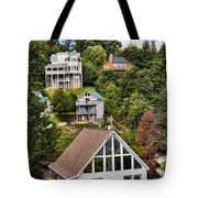 Homes On Mt. Harrison-smoky Mountains Gatlinburg Tennesse Tote Bag