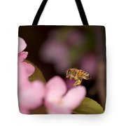 Honey Bee And Crabapple Tote Bag