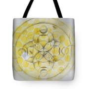 Honey Bee Mandala Tote Bag