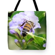 Honey Bee On Lavender Flower Tote Bag