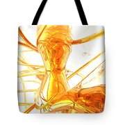 Honey Painted Abstract Tote Bag