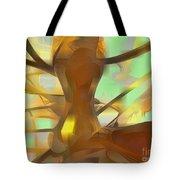 Honey Pastel Abstract Tote Bag