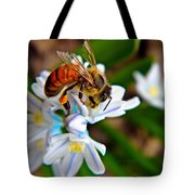 Honeybee And Squill Tote Bag