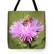 Honeybee At Work Tote Bag