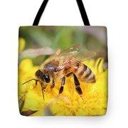 Honeybee On A Dandelion Tote Bag