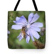 Honeybee On Chicory Tote Bag