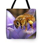 Honeybee On Hyacinth Tote Bag