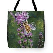 Honeybee On Liatis Tote Bag