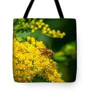 Honeybee On Yellow Tote Bag