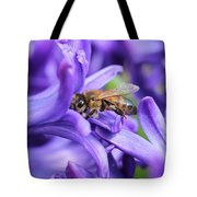 Honeybee Peeking Out Tote Bag