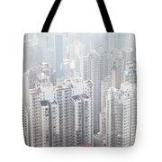 Hong Kong City In The Mist Tote Bag