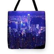 Hong Kong In Purple Tote Bag
