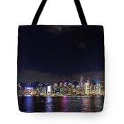 Hong Kong Symphony Of Lights Show Tote Bag