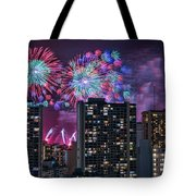 Honolulu Festival Fireworks Tote Bag