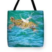 Honu Hawaiian Green Sea Turtle Tote Bag