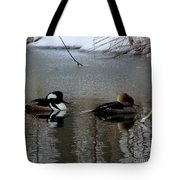 Hooded Merganser Mates Tote Bag
