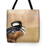 Hooded Merganser Tote Bag