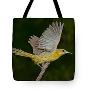 Hooded Oriole Hen At Take Tote Bag