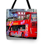 Hop On And Hop Off Bus In Bergen Tote Bag