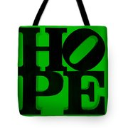 Hope In Green Tote Bag