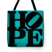 Hope In Light Blue Tote Bag