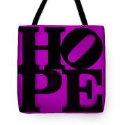 Hope In Purple Tote Bag