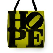 Hope In Yellow Tote Bag