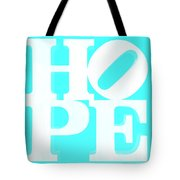 Hope Inverted Aquamarine Tote Bag