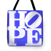 Hope Inverted Blue Tote Bag