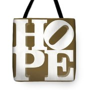 Hope Inverted Brown Tote Bag