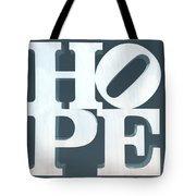 Hope Inverted Denim Tote Bag