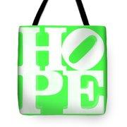 Hope Inverted Green Tote Bag