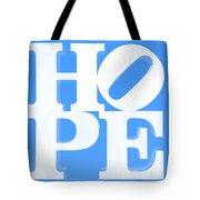 Hope Inverted Light Blue Tote Bag