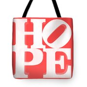 Hope Inverted Red Tote Bag