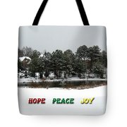 Hope Peace Joy Tote Bag