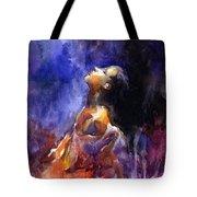 'hope' Woman Portrait  Tote Bag