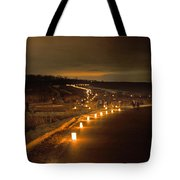 Horicon Marsh Candlelight Snow Shoe/hike Tote Bag