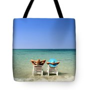 Horizon Blues Tote Bag