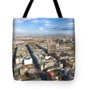 Horizontal Aerial View Of Berlin Tote Bag