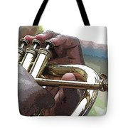 Horn Player 0072 Tote Bag